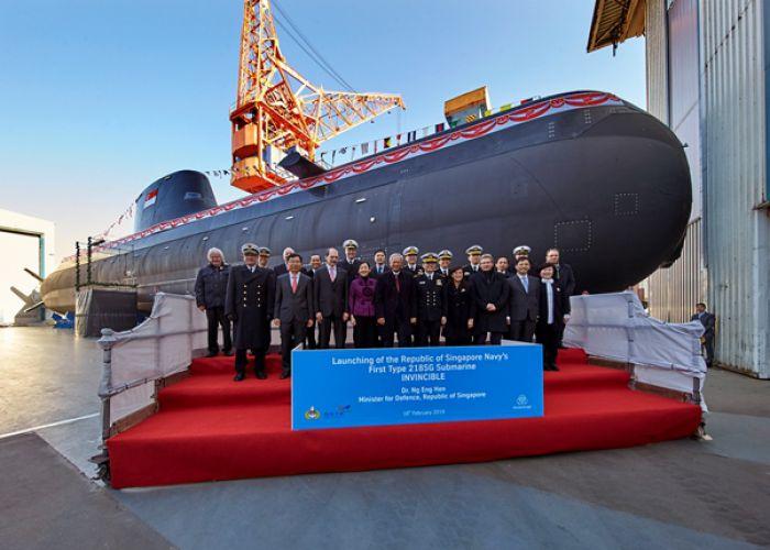 Taufe des ersten Ubootes vom Typ 218SG für die Republik Singapur