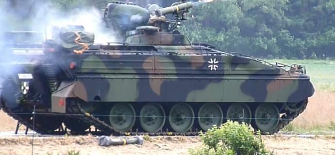 Rheinmetall integriert Panzerabwehrlenkflugkörper MELLS in Schützenpanzer Marder