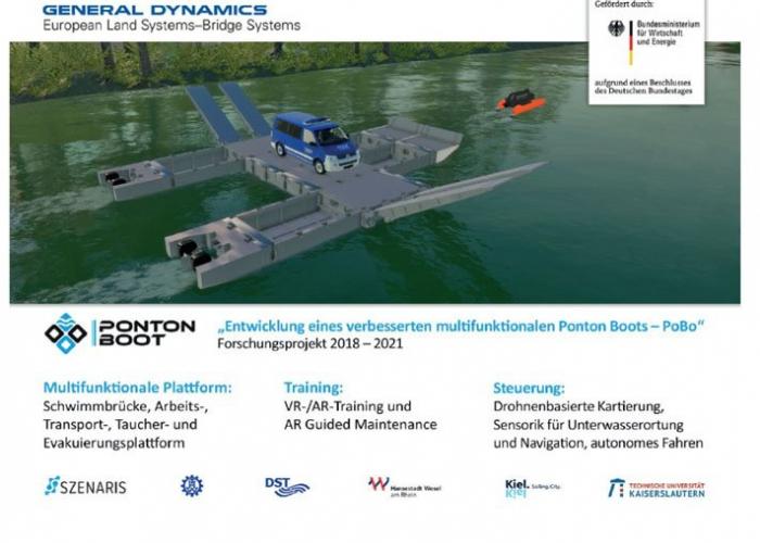 General Dynamics European Land Systems stellt Pontonboot-System